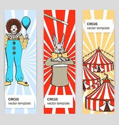 Sketch circus rabbit and clown vector image