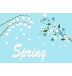 spring flowers on tree vector image
