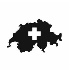 Switzerland map icon simple style vector