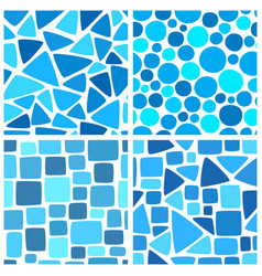 abstract colorful mosaic seamless pattern vector image