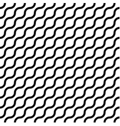 abstract seamless pattern with black waves in vector image