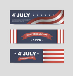 banners for Independence Day of America vector image