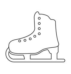 ice skate sport leisure thin line vector image