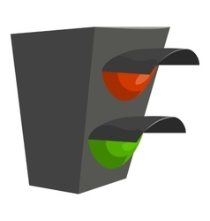 Traffic light icon cartoon style vector