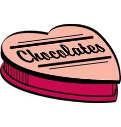 Valentines chocolate box vector image vector image