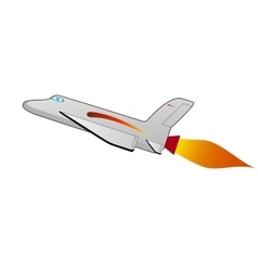 a cartoon space shuttle vector image vector image
