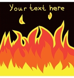 Cartoon fire flame flat icon vector image