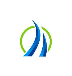 loop 3d business finance logo vector image