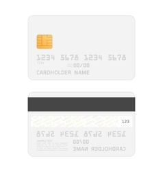Realistic credit cards mockup vector image vector image