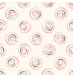 Seamless pattern with concentric circles vector