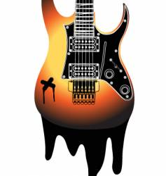urban guitar illustration vector image