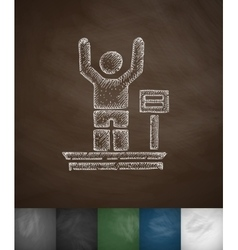 Weighing icon hand drawn vector