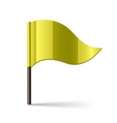 Yellow flag vector image vector image