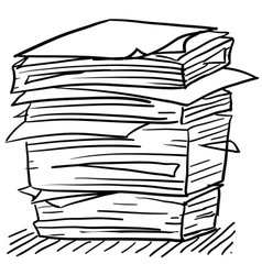 doodle paper stack stress vector image