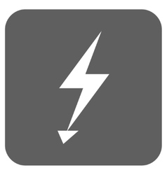 Electric Strike Flat Squared Icon vector image