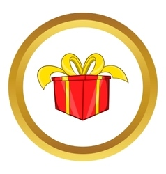 Gift in a box icon cartoon style vector image vector image