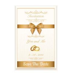 Gold ring wedding invitation EPS10 vector image