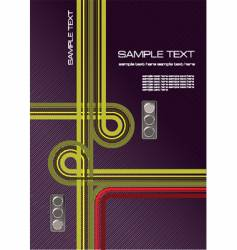 junction and traffic lights vector image vector image