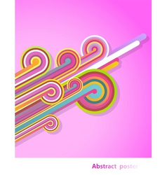 retro rainbow vector image