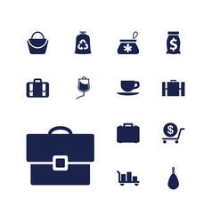 13 bag icons vector