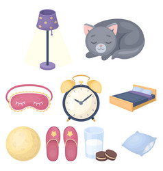 A set of pictures on a theme a dream rest bed vector