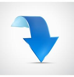 Abstract 3d Blue Arrow Icon vector image