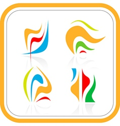 abstract internet icon vector image