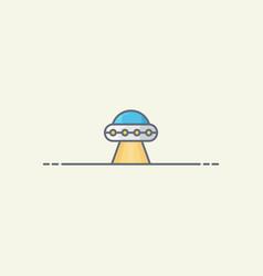 Alien spaceship icon vector
