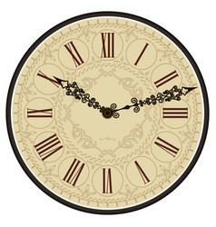 Antique old clock face vector