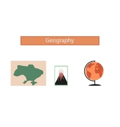assembly flat icons subjects of study geography vector image