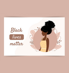 Black lives matters stop racism and violence vector