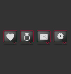 black love badge icons vector image