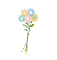 Bouquet wildflowers isolated flower on white vector