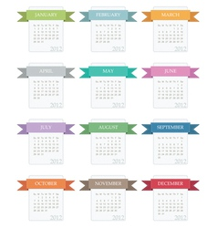 calender for 2012 vector image