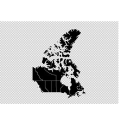 canada map - high detailed black map with vector image
