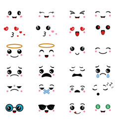 cartoon faces expressions cartoon faces vector image