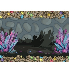 Cartoon of underground cave vector image