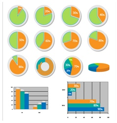 collection graphs vector image