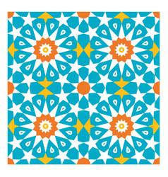 Colorful arabic geometric ornament vector