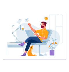 concept a freelancer working vector image