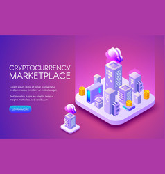 cryptocurrency bitcoin marketplace vector image