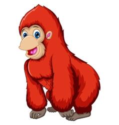 Cute gorilla cartoon vector
