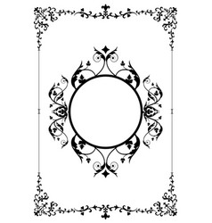 decorative frame and background in vintage style vector image