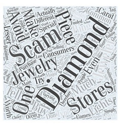 Diamond scams Word Cloud Concept vector