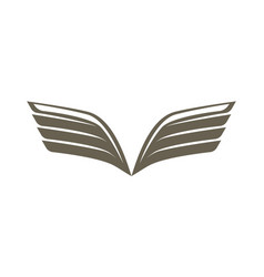 double wing isolated emblem vector image