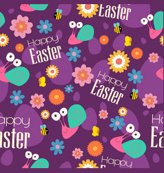 easter and spring wallpaper seamless pattern vector image