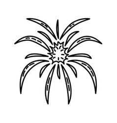explosion icon doodle hand drawn or outline icon vector image