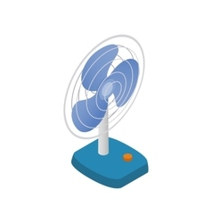 Fan icon isometric 3d style vector