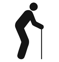 figure stick icon vector image