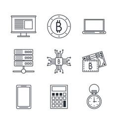 Fintech icons set vector